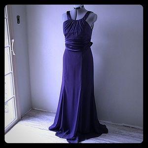 David's Bridal plum brides maid dress size 10